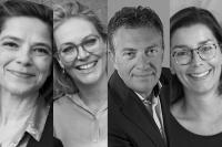v.l.n.r. Augusta Zweekhorst, Stephanie Groot, Jan Güse, Marit Klooster